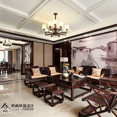 精美134平米四居客厅中式实景图片