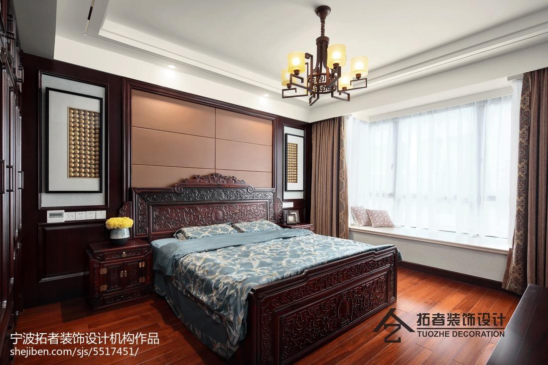 热门面积139平中式四居卧室装修图片欣赏