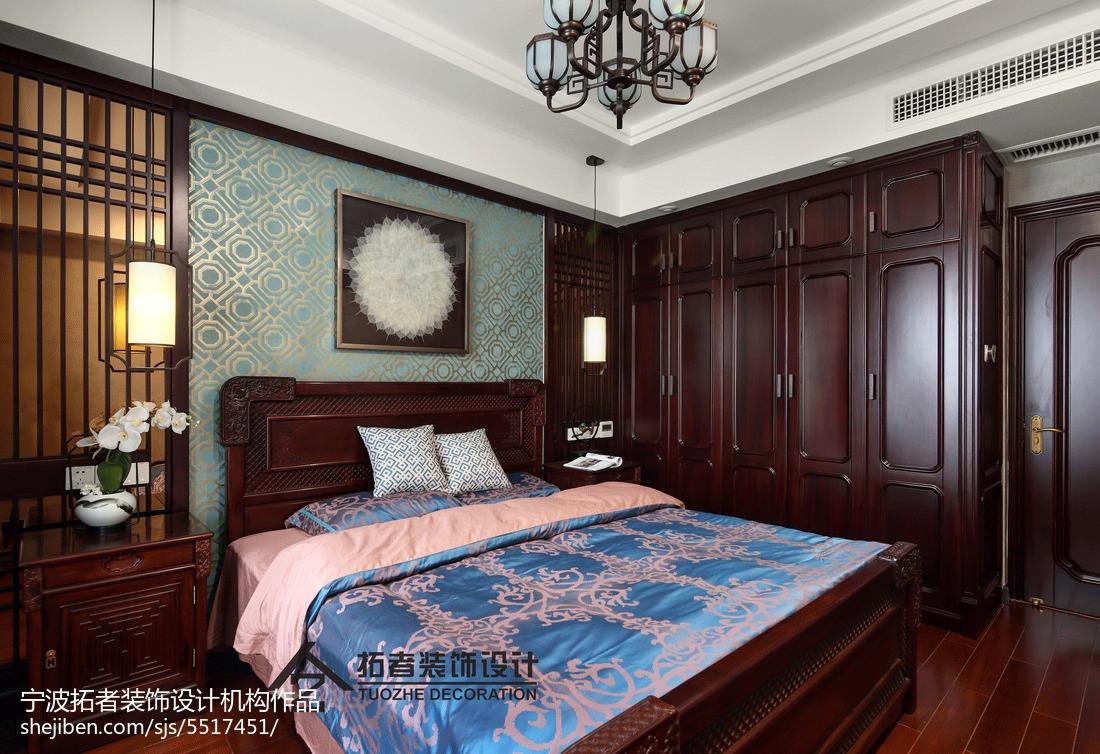 四居卧室中式装修实景图片大全