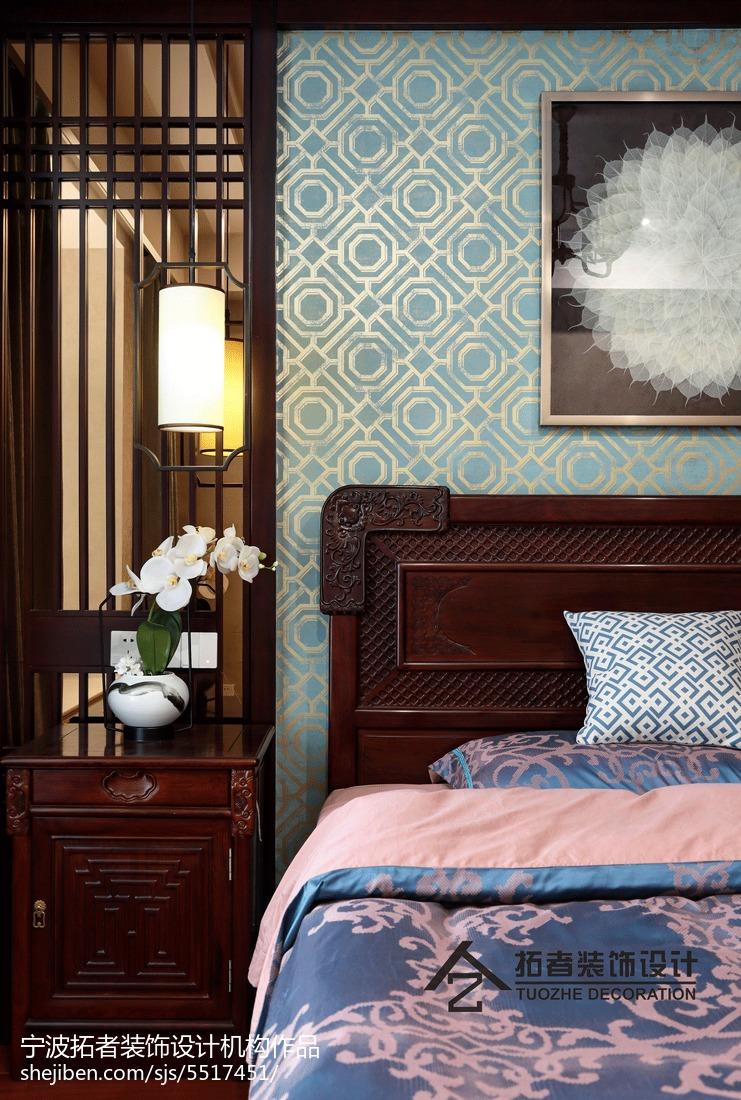 2018面积124平中式四居卧室效果图片大全