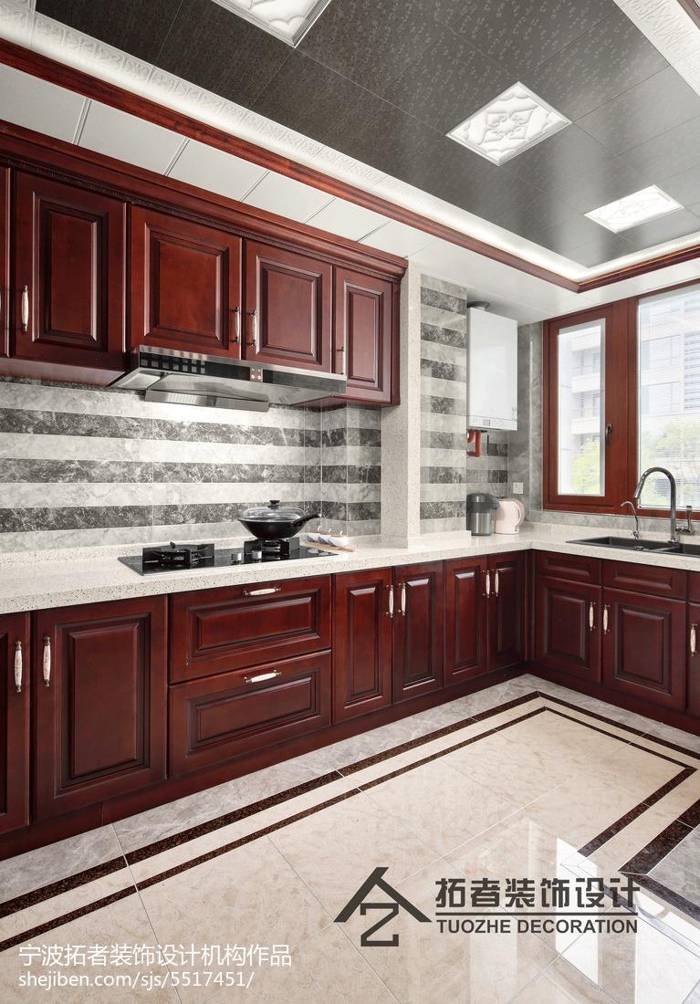 精选面积123平中式四居厨房装修欣赏图片