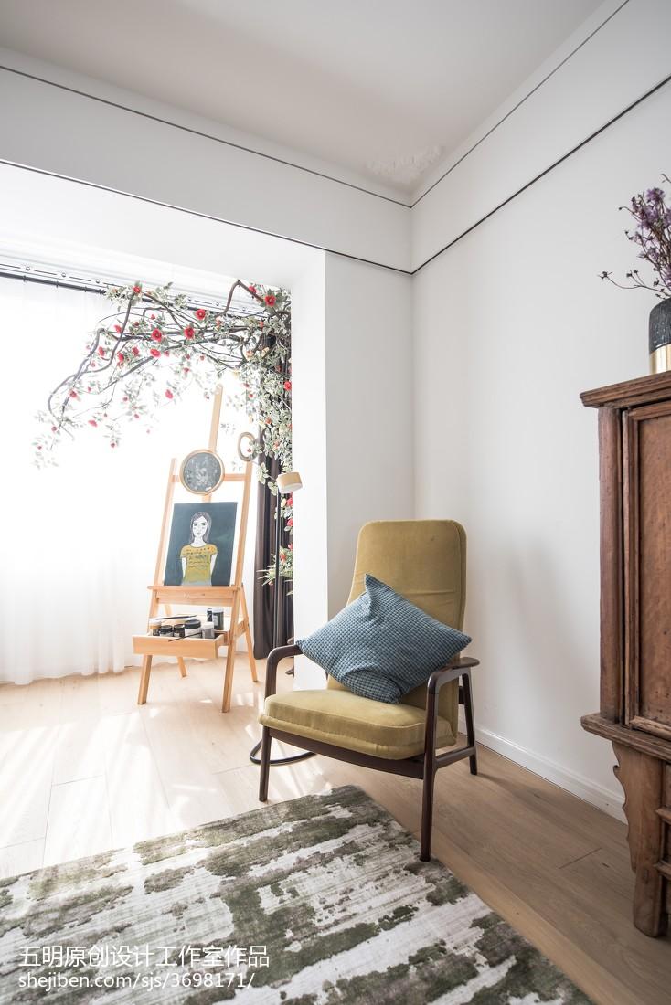2018面积86平小户型客厅混搭装修设计效果图片大全