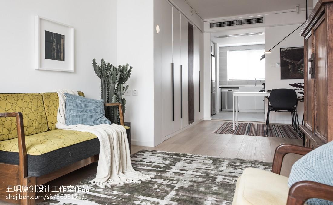 精美71平米混搭小户型客厅装修效果图片