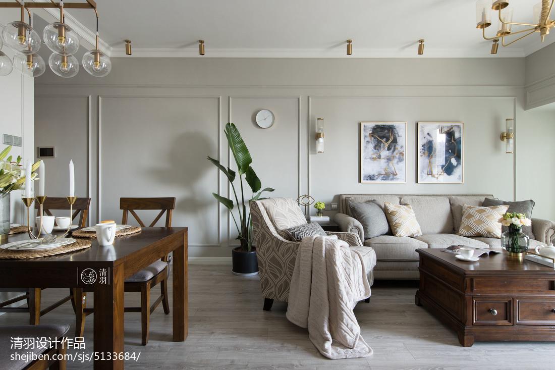 华丽114平美式三居客厅美图