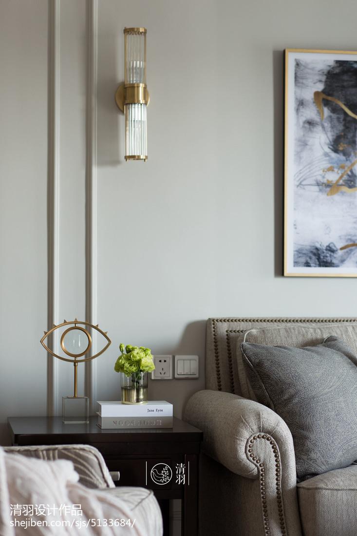 精选93平米三居客厅美式装修效果图片