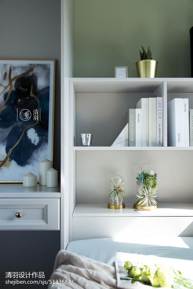 温馨83平美式三居卧室案例图
