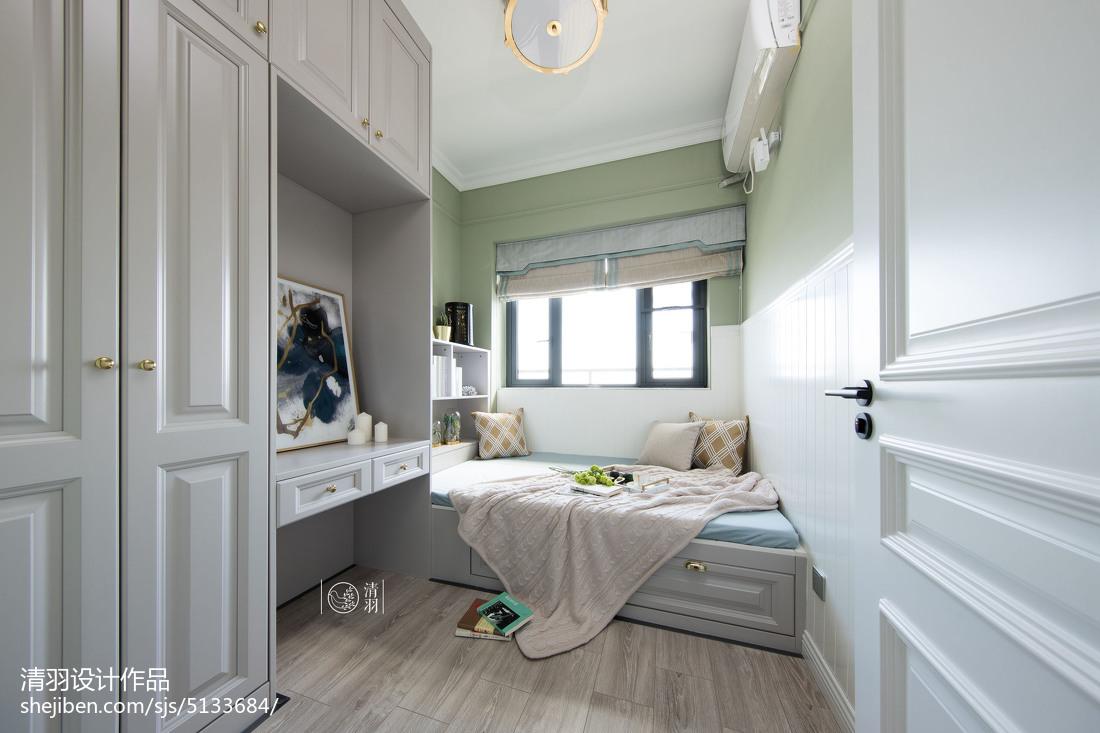 201980平美式三居卧室设计效果图