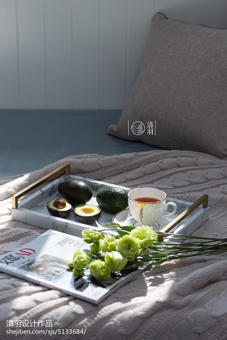 精致124平美式三居卧室装修图