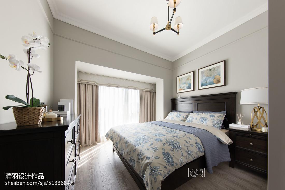 精美95平美式三居卧室装饰图
