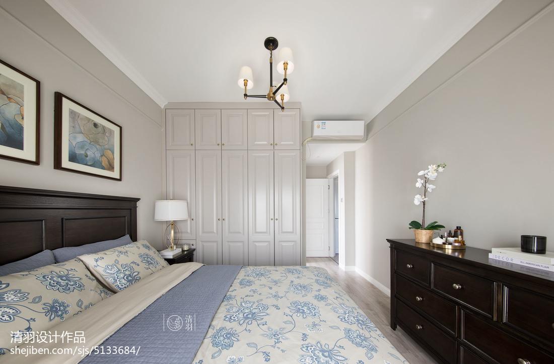 轻奢102平美式三居卧室效果图