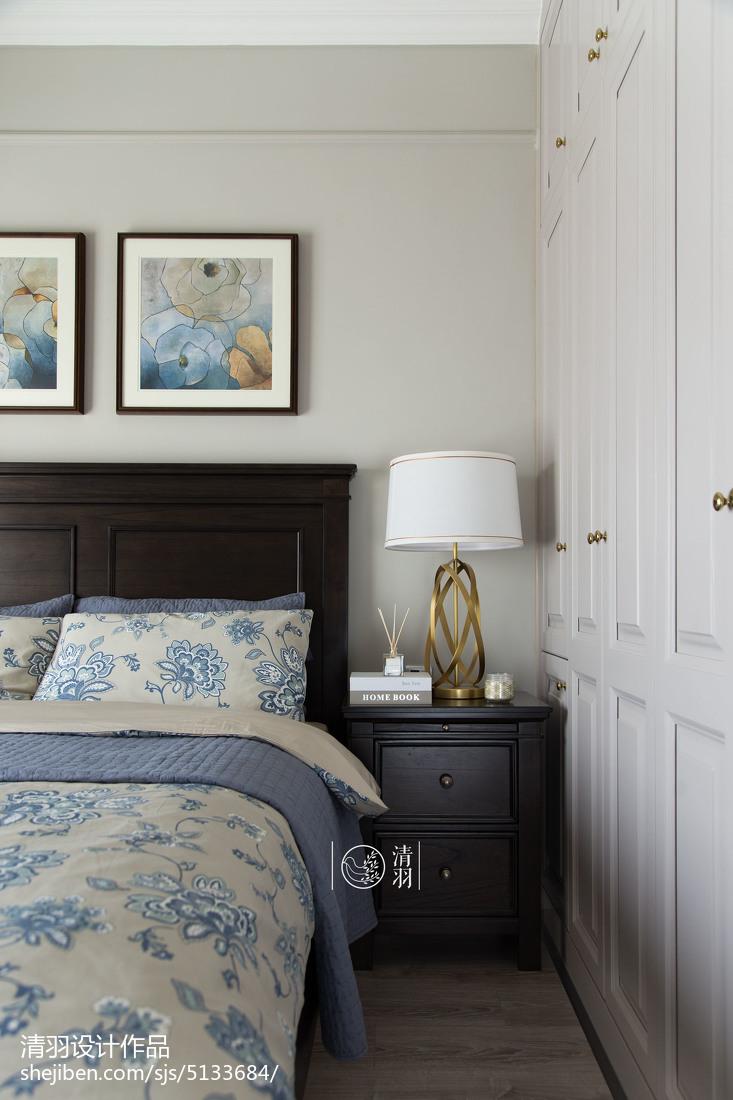 轻奢103平美式三居卧室效果图欣赏