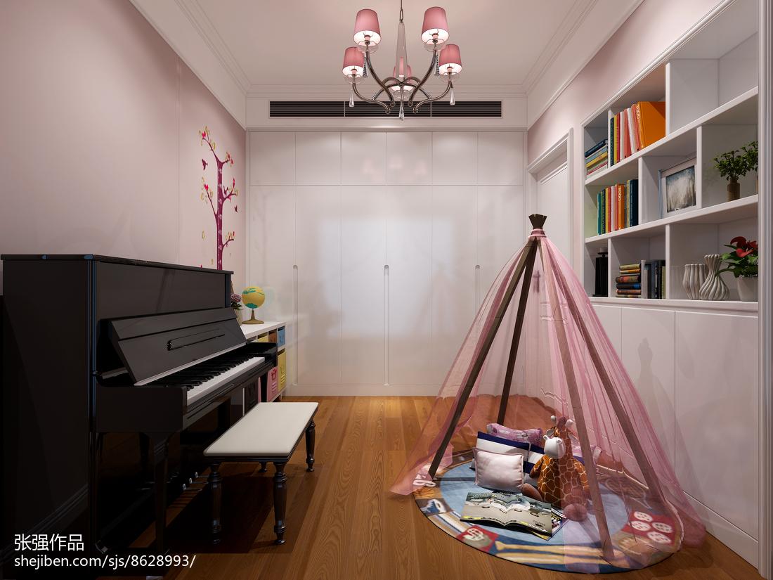 热门面积118平简欧四居书房装修设计效果图