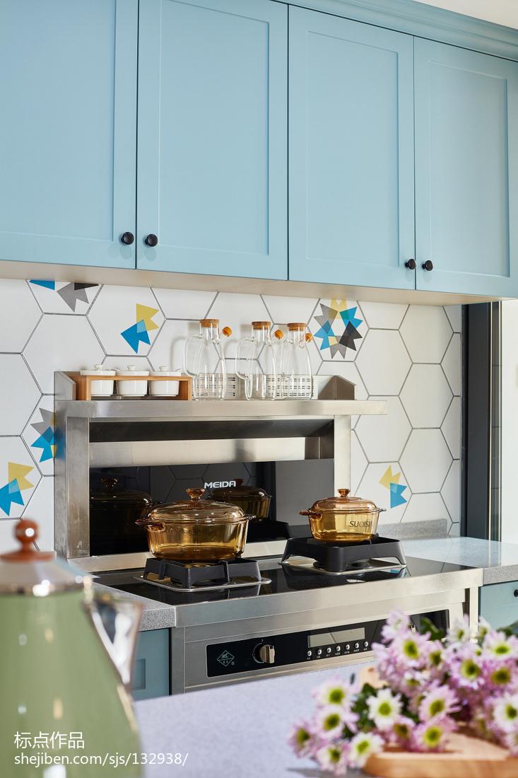 精美面积123平北欧四居厨房装饰图片大全