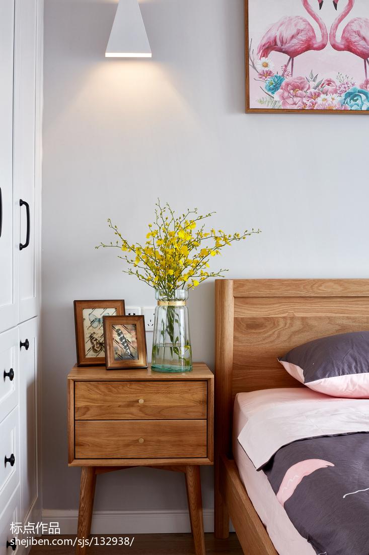 热门面积132平北欧四居卧室装饰图