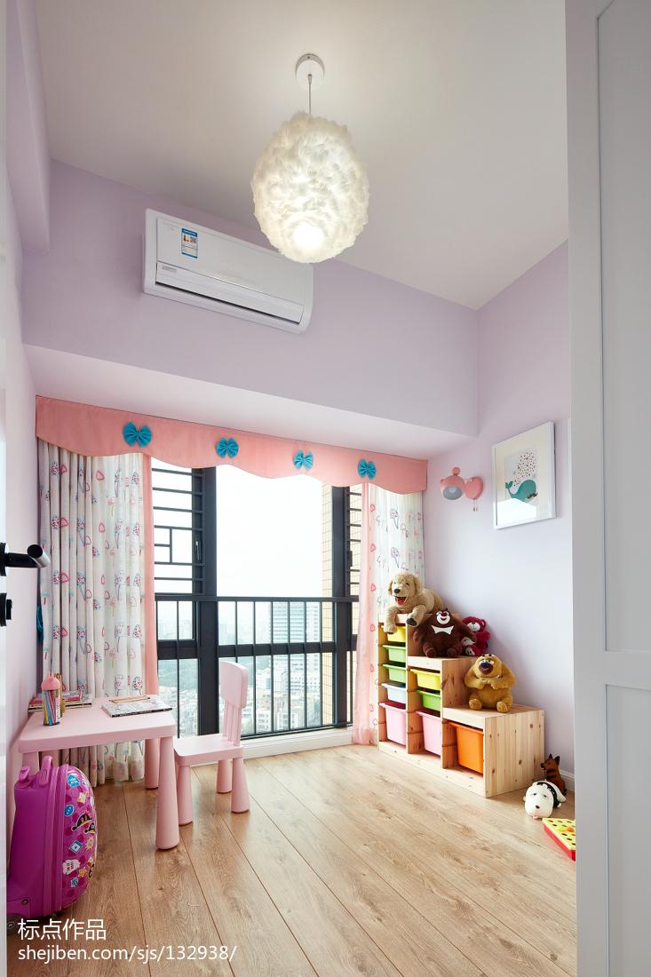 热门面积142平北欧四居儿童房装修效果图片欣赏