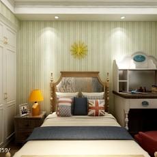 热门面积76平美式二居卧室效果图