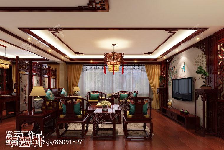 北美橡木-客厅-新中式风格