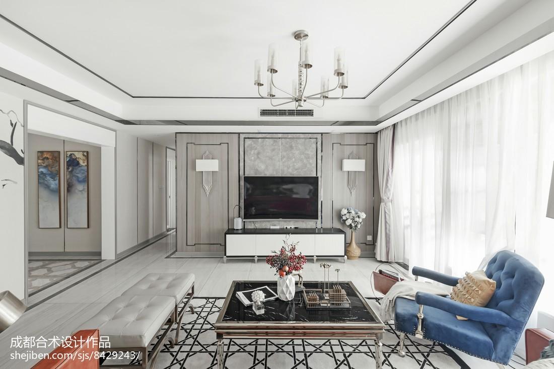 2018精选120平米四居客厅简约装修欣赏图片