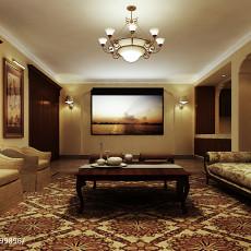 中式风格装修客厅图片欣赏2014