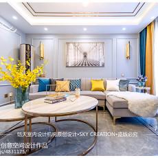 热门85平方二居客厅现代装修实景图片欣赏
