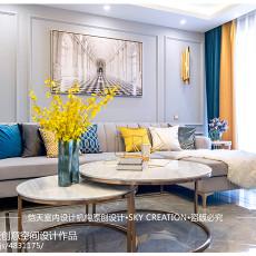 热门大小86平现代二居客厅装修欣赏图