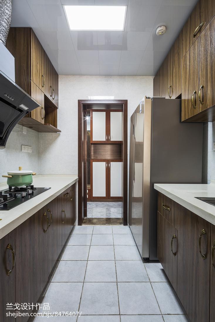 精美面積98平中式三居廚房裝修設計效果圖