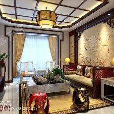 中式客厅铜灯