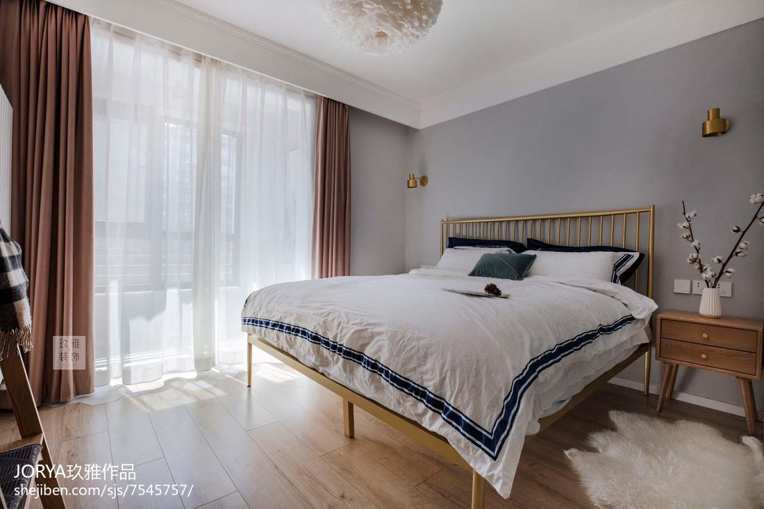 2018现代二居卧室装修实景图片大全