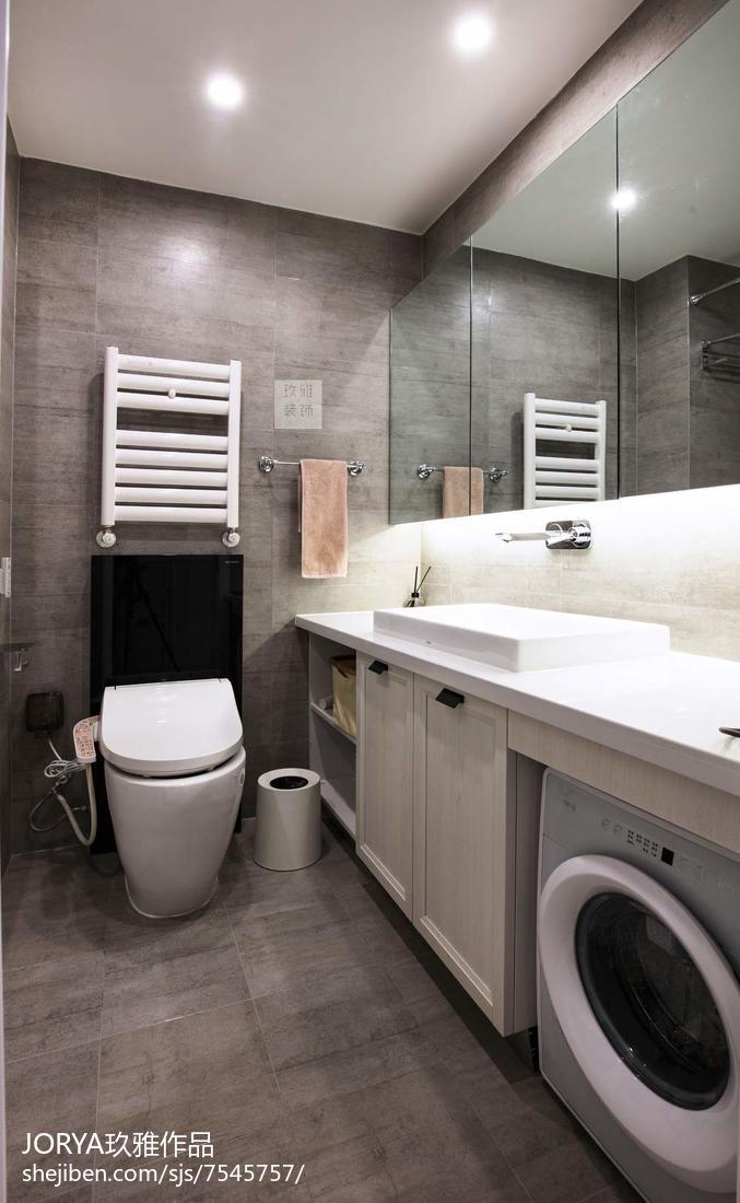 精选85平米二居卫生间现代装修实景图片欣赏