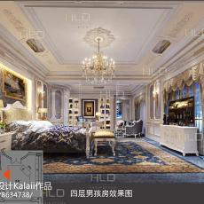 2018精选140平米欧式别墅卧室装饰图