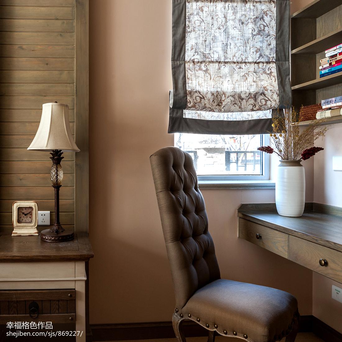 大气112平田园三居卧室实景图片