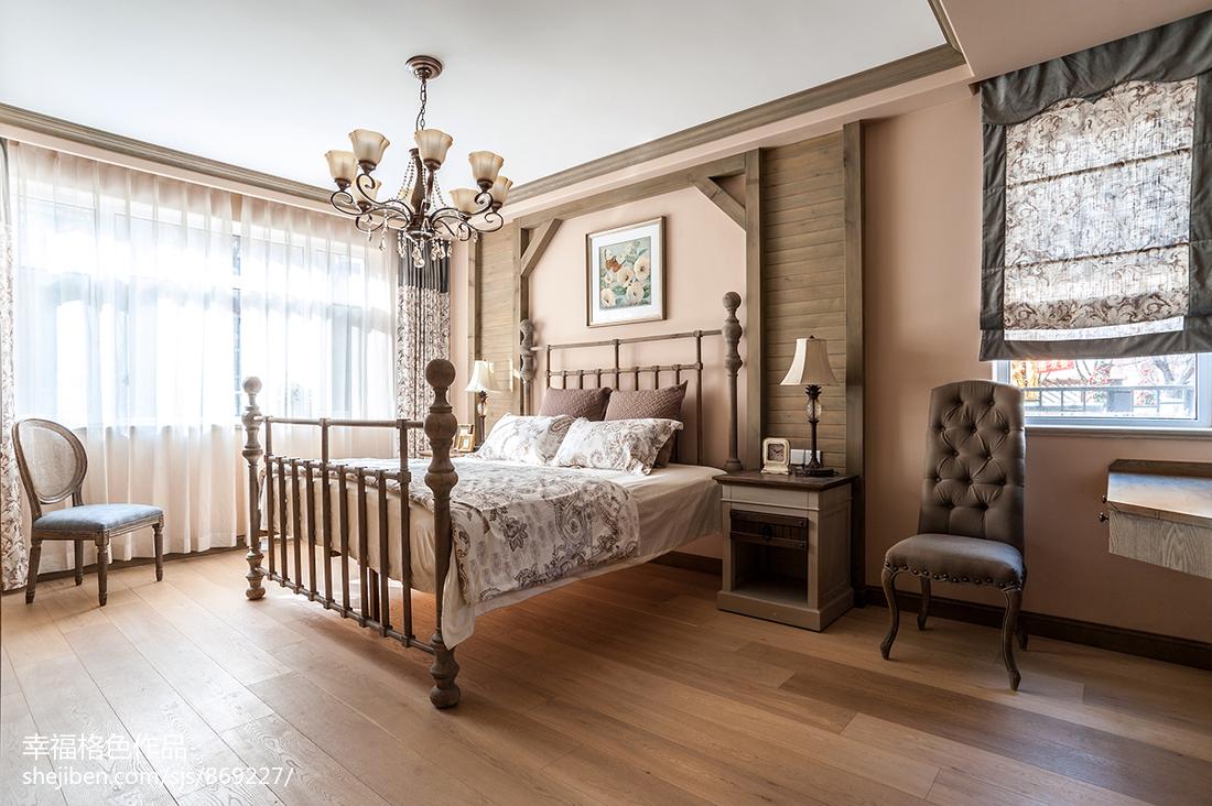 轻奢125平田园三居卧室案例图
