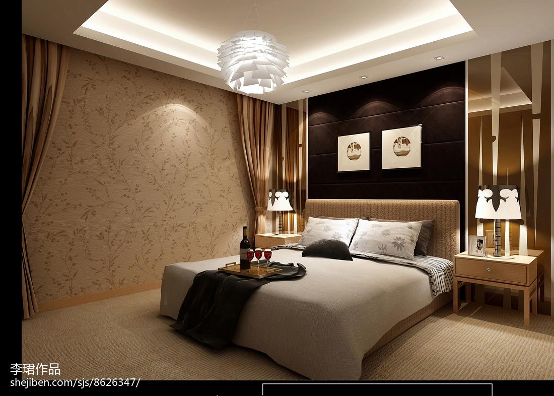 现代精美温馨卧室装修效果图
