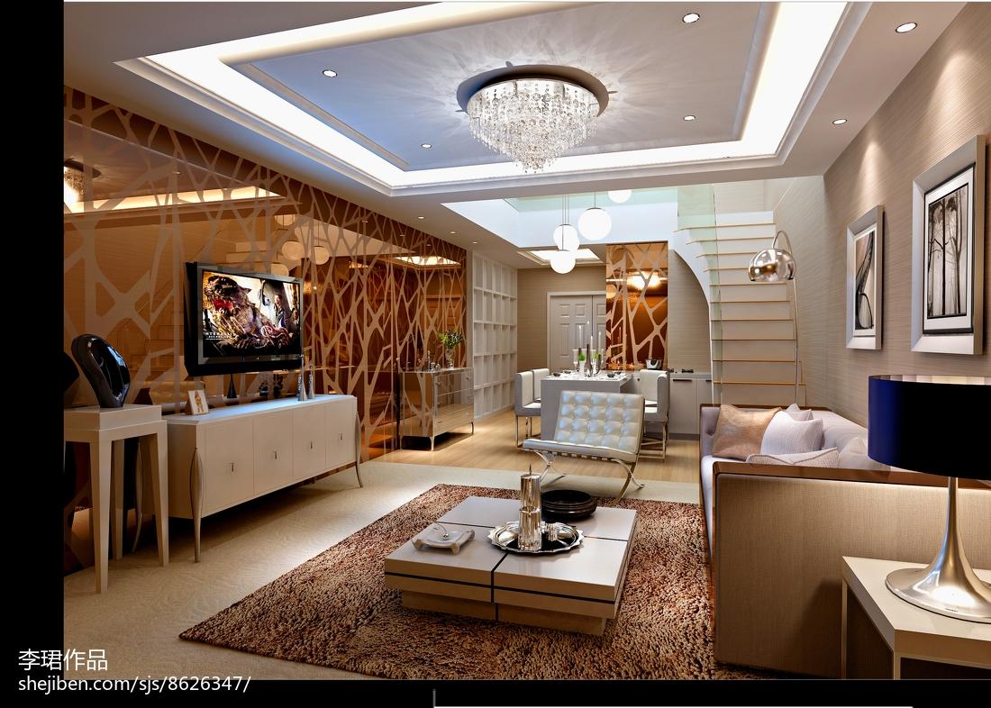 现代优雅客厅装修效果图