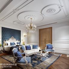 2018精选面积127平别墅卧室欧式设计效果图