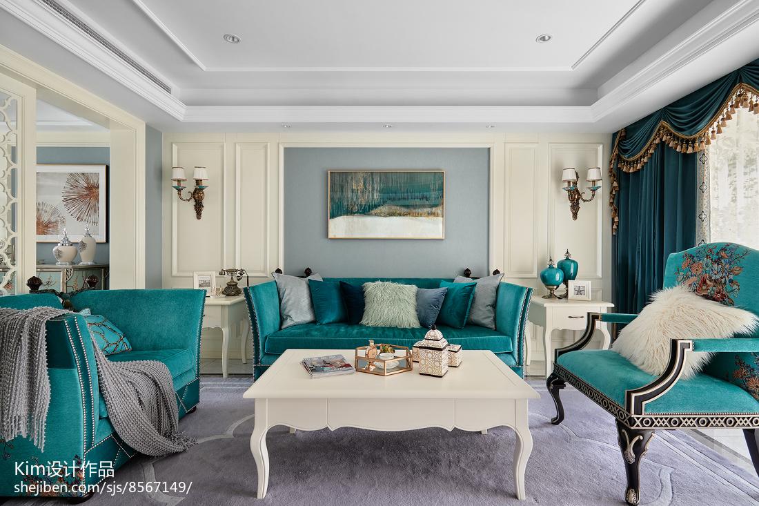 2018136平米复式客厅装修效果图