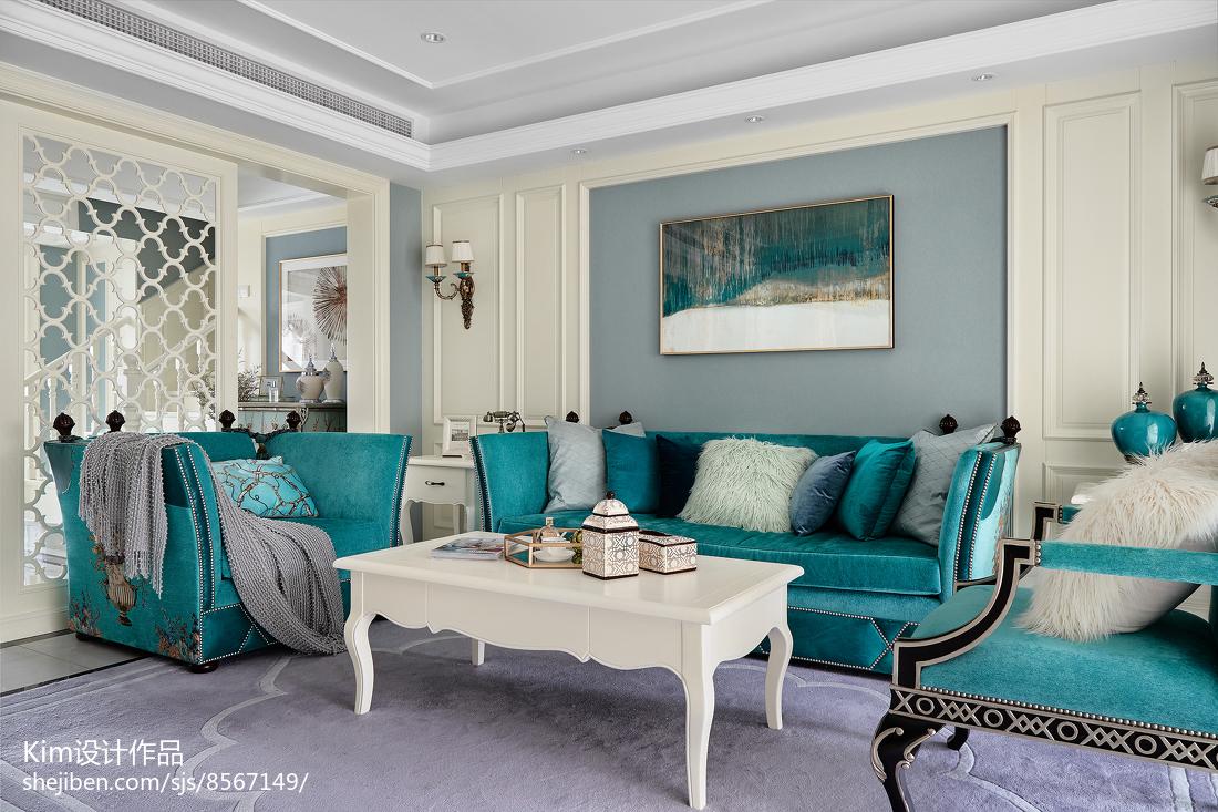 温馨40平法式复式客厅案例图
