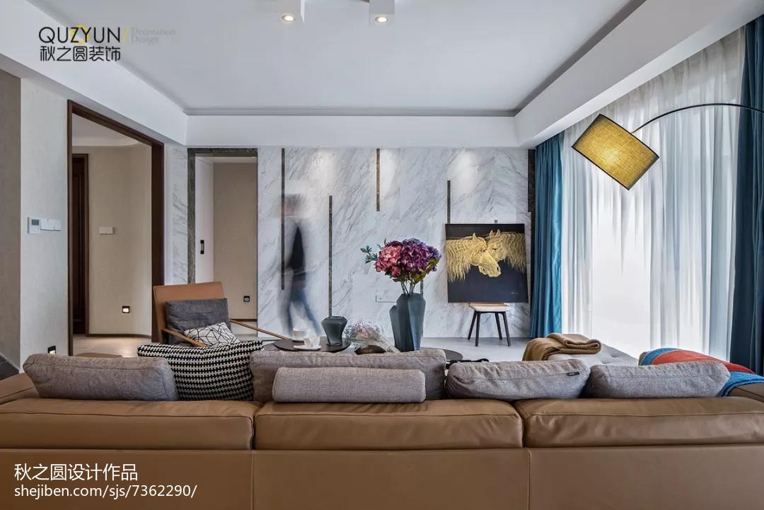 热门北欧复式客厅装修设计效果图