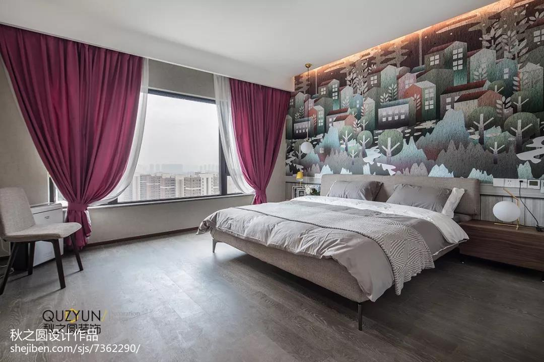 精美131平米北欧复式卧室装修实景图