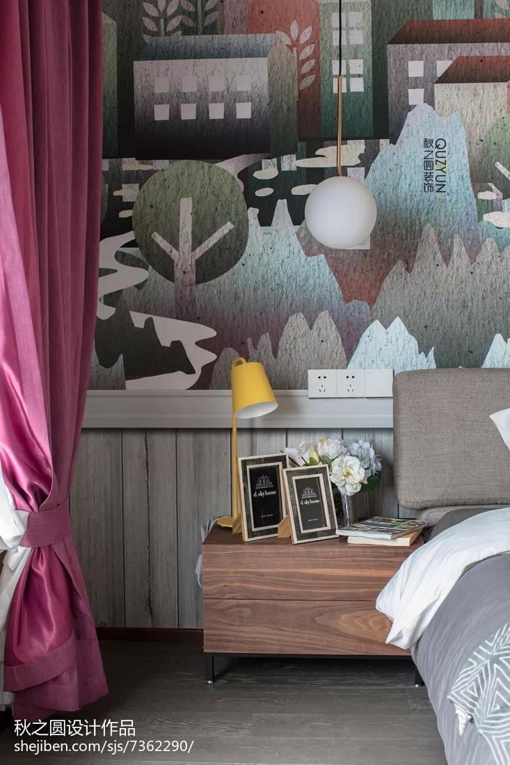 精选面积127平复式卧室北欧装修设计效果图片大全