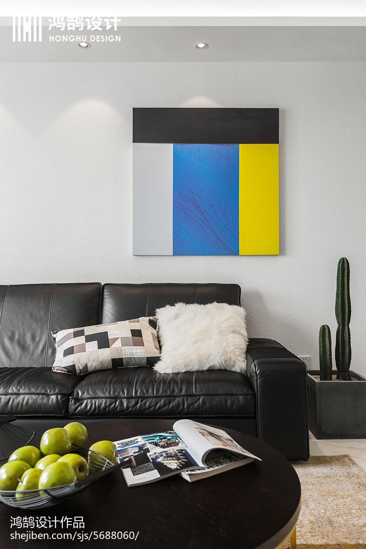 精美面积105平简约三居客厅装修欣赏图