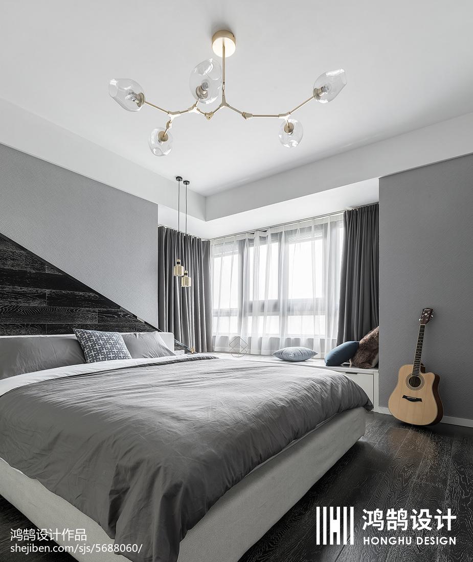 精美大小98平简约三居卧室装饰图片