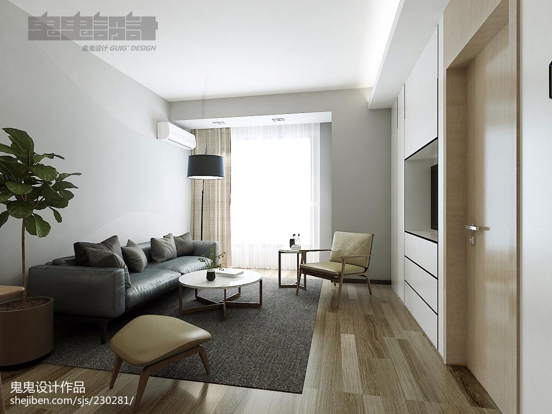 热门86平米二居客厅简约效果图片