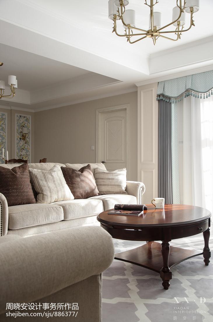 轻奢106平美式四居客厅装修案例