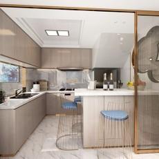 热门面积118平复式厨房现代欣赏图片