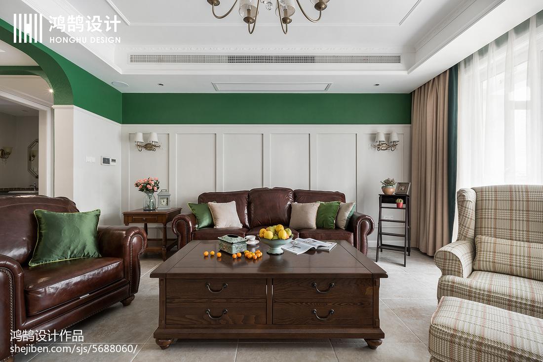 精选大小90平美式三居客厅装修图