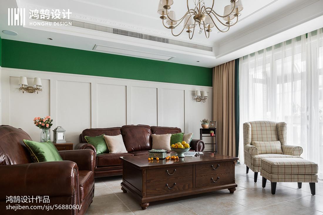 精选91平米三居客厅美式装修图