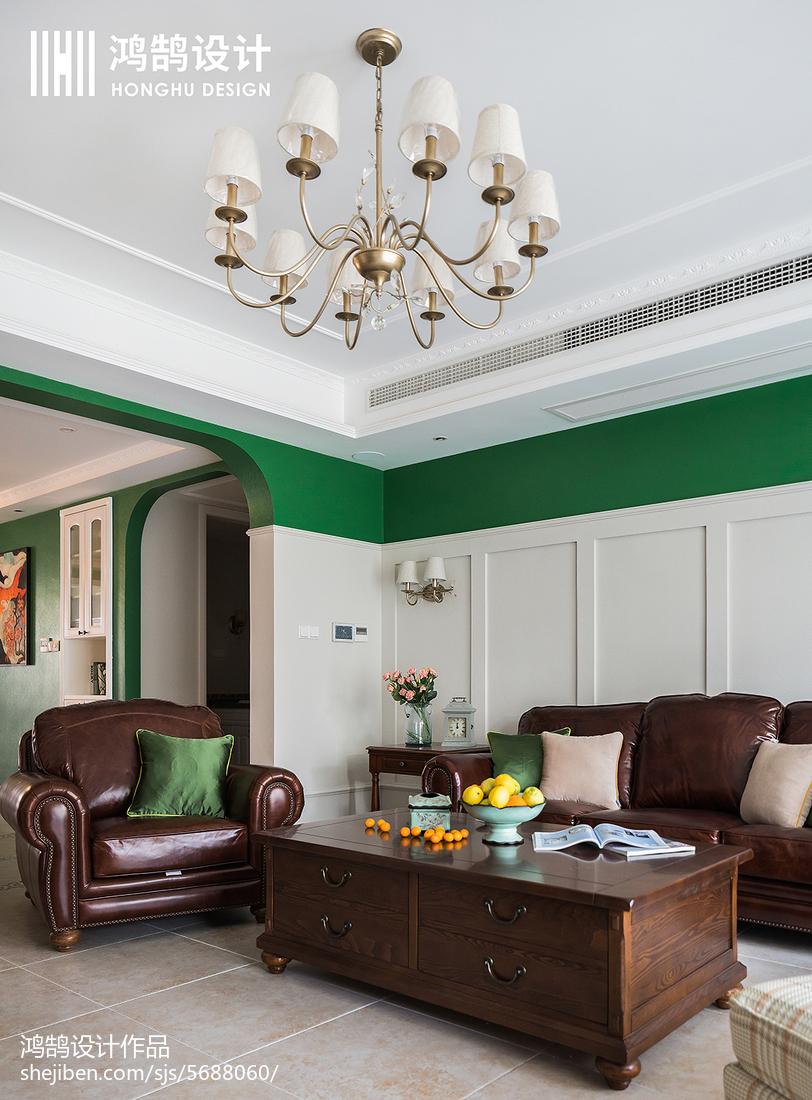 精美91平米三居客厅美式实景图片大全