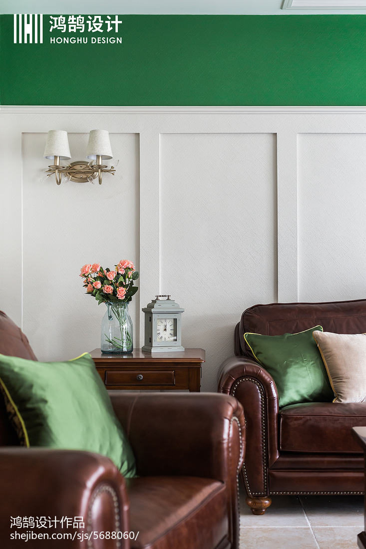 热门91平方三居客厅美式装修欣赏图片