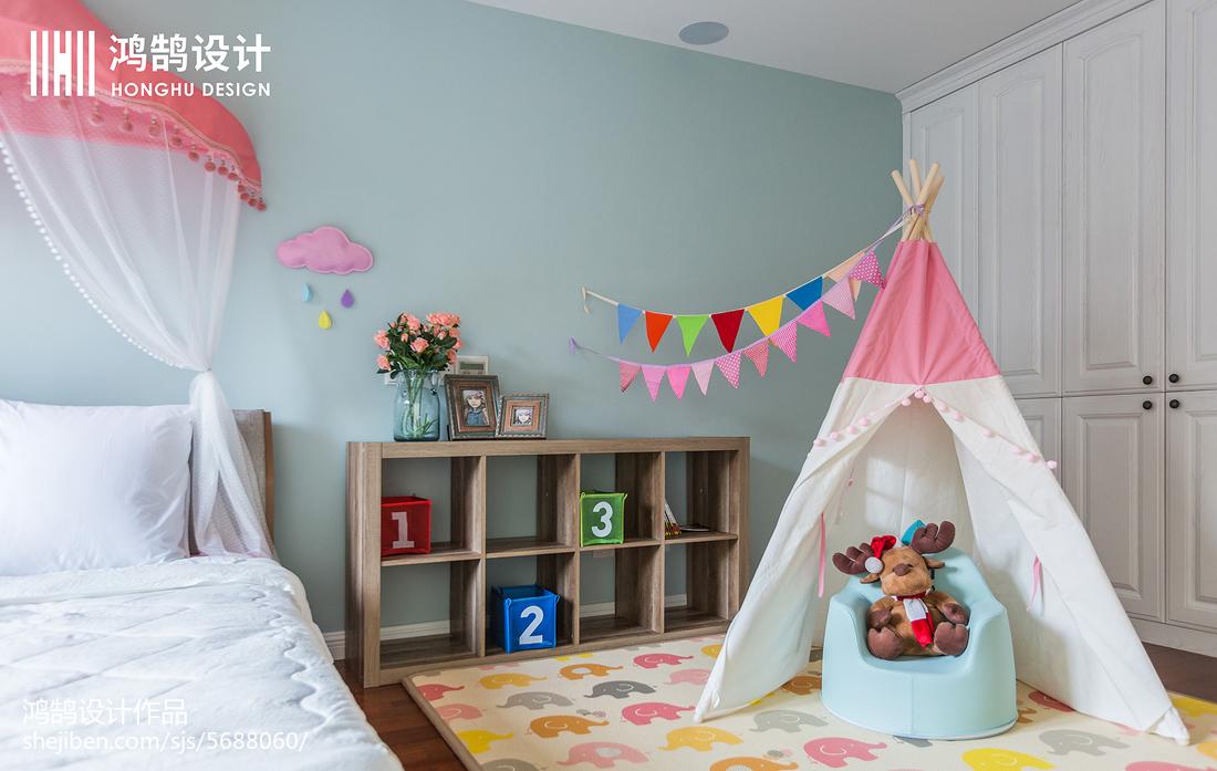 热门98平米三居儿童房美式设计效果图